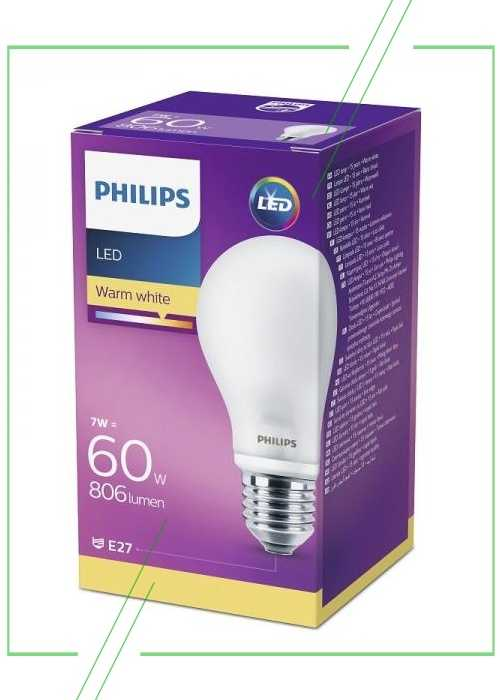 Philips A60 LED E27 7W 806lm_result