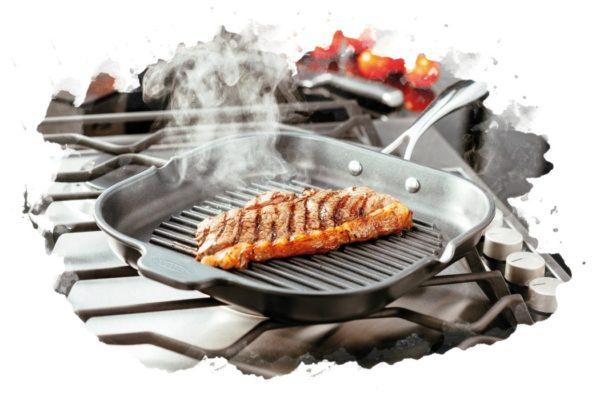 ТОП-7 лучших сковородок-гриль: какую купить, плюсы и минусы, отзывы, цена