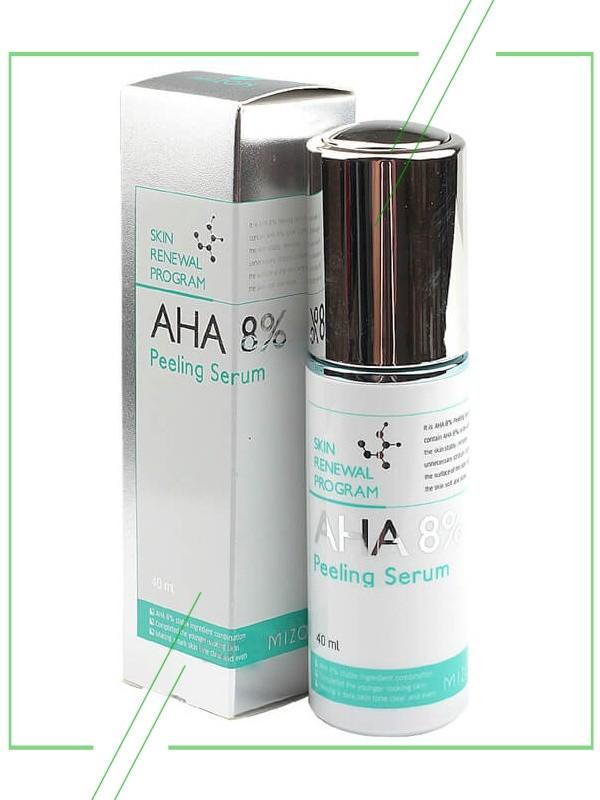Серум Mizon AHA 8% Peeling Serum_result