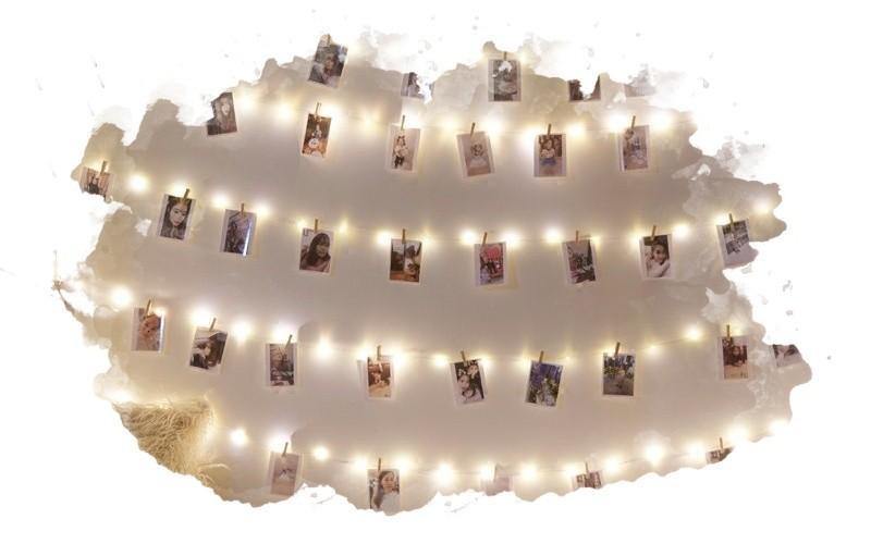 способ украшения стены с фотографиями