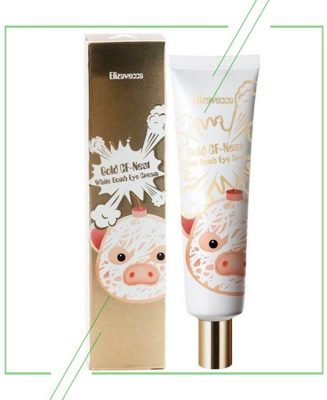 Elizavecca Gold CF-Nest White Bomb Eye Cream_result