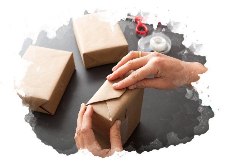 Классический способ запаковки подарка