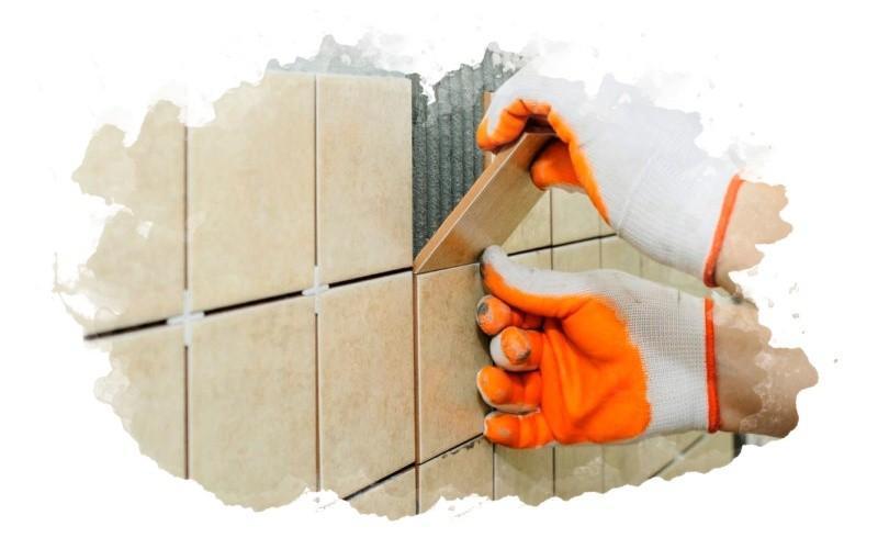 использование плиточного клея