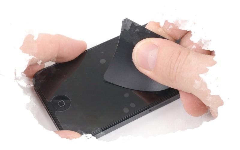 как убрать пузыри на телефоне