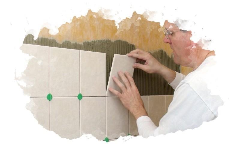 как правильно выкладывать плитку на клей