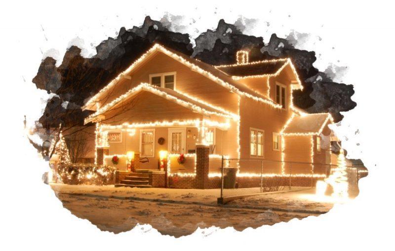 подсветка дома светодиодной гирляндой