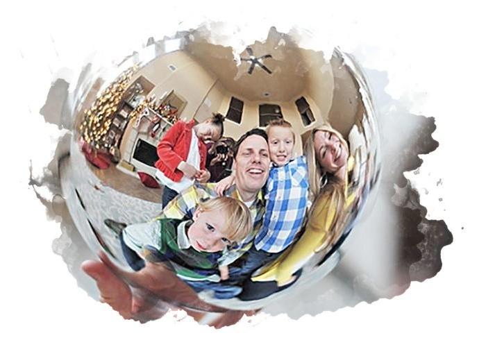 фотография с помощью шара