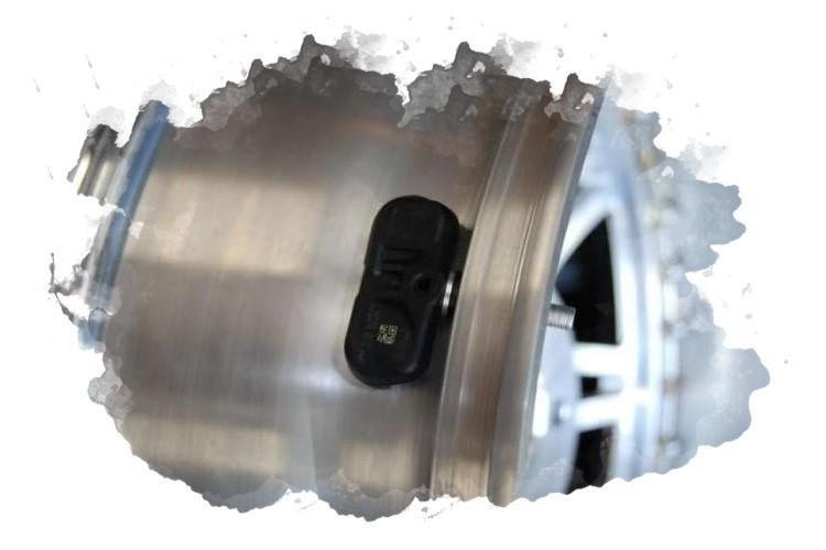 где крепится датчик давления в шинах