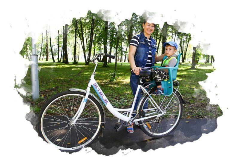 где крепят велокресло для детей