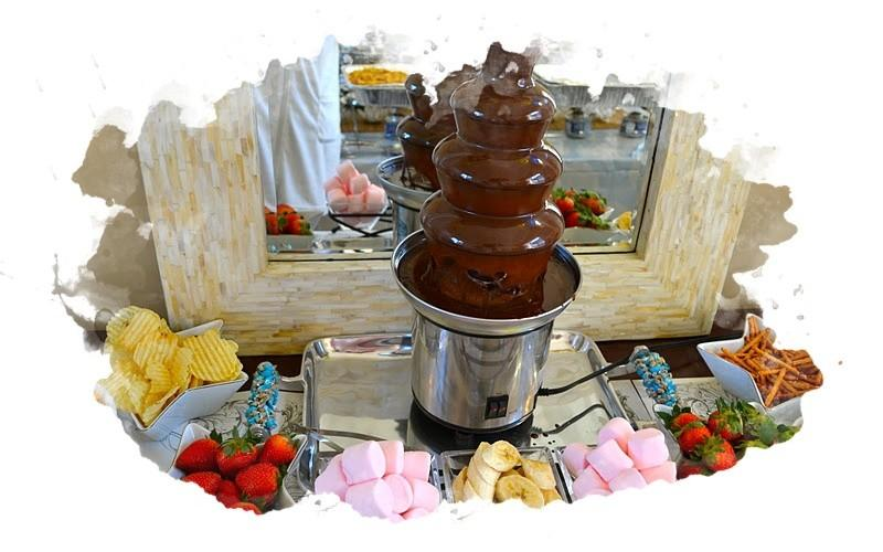 шоколадный фонтан в действии