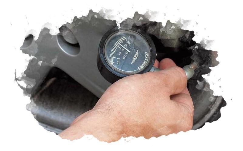 как измерять давления в шинах