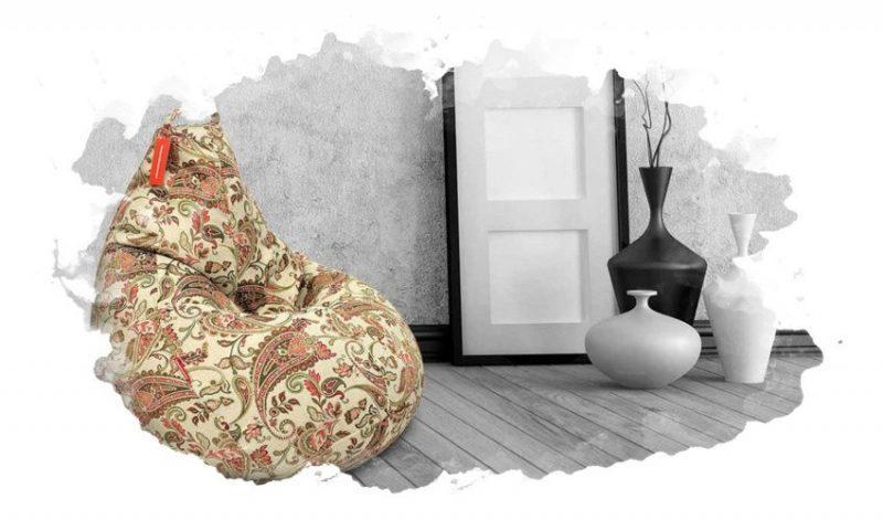 кресло-мешок в комнате