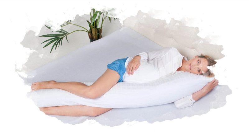 как ложиться на подушку для беременных