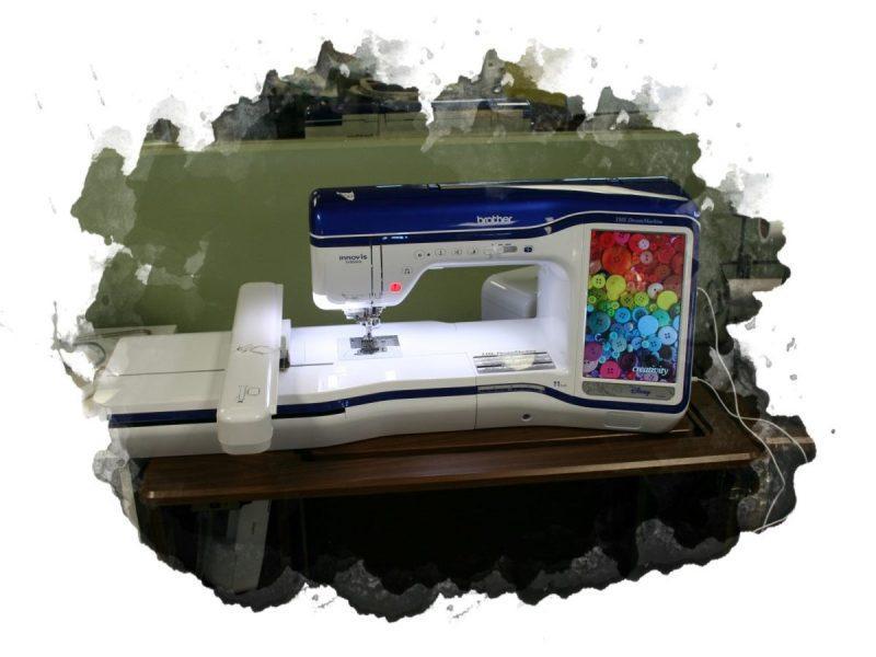 использование машинки для вышивания