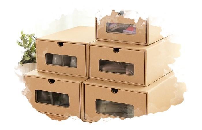использование коробок для обуви