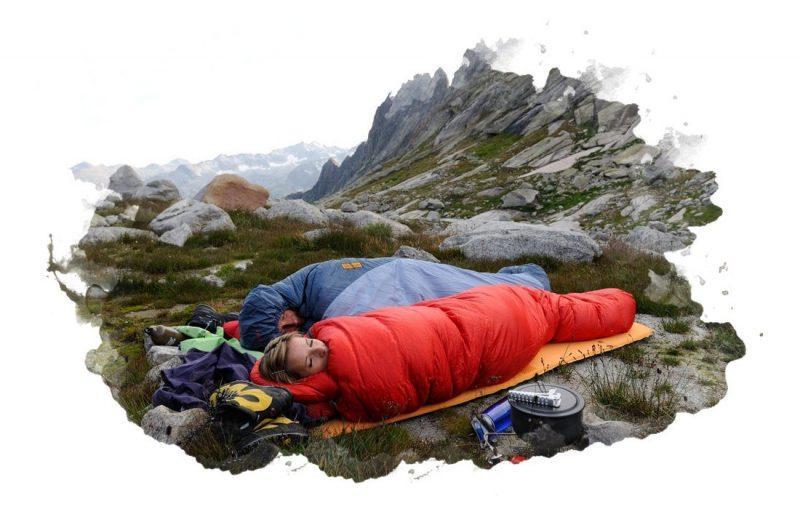 использование спального мешка