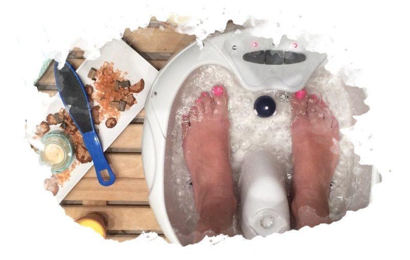 использование ванночки для ног