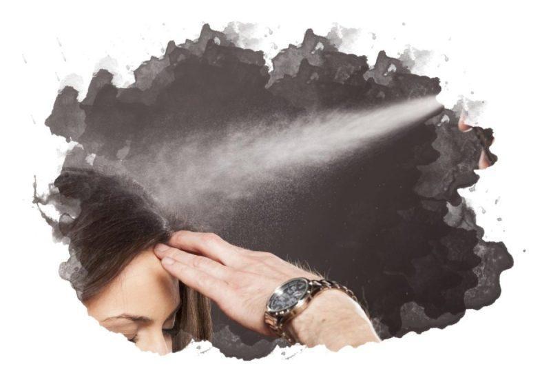 как наносят лак для волос