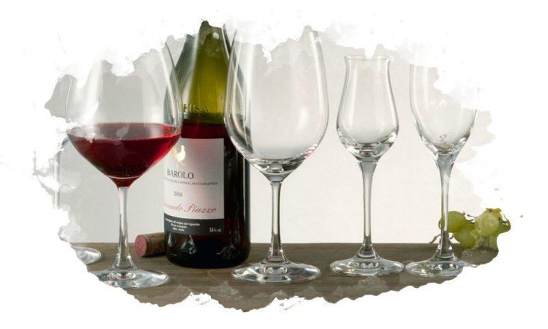 бокалы для вина вытянутой формы