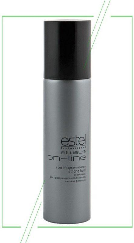Estel Always ON-LINE Root Lift Spray Mousse Strong Hold_result