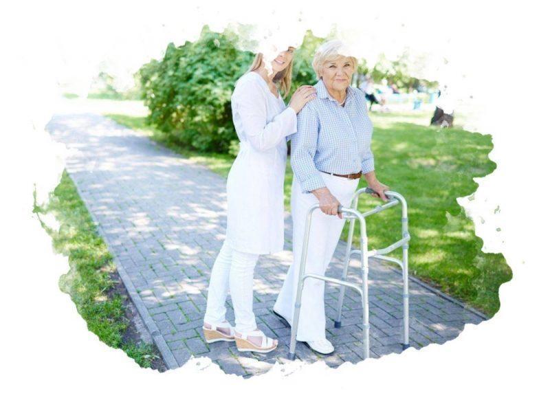 использование ходунков для пожилых людей