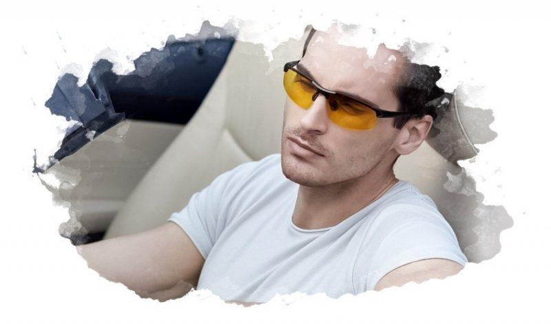 желтые очки для водителя