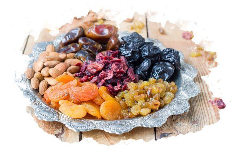 Белковая диета и сухофрукты