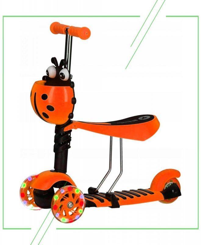 Самокат-беговел 21st Scooter 5 в 1 Божья Коровка_result