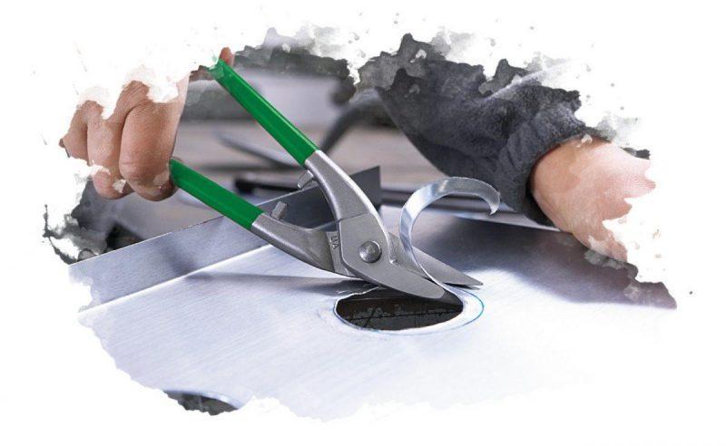 как пользоваться ножницами по металлу