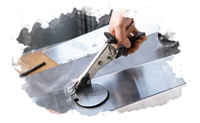 использование ножниц для металла