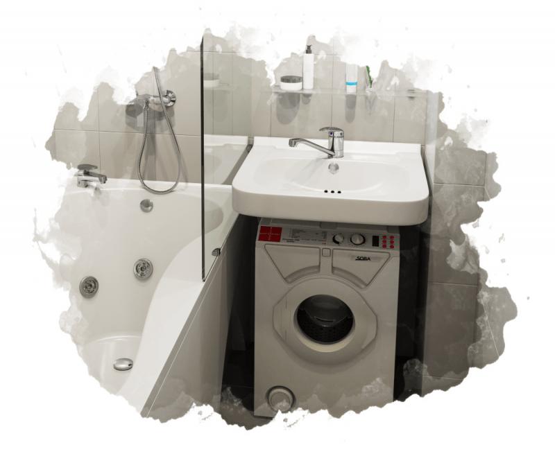 как устанавливают стиральную машинку под раковину