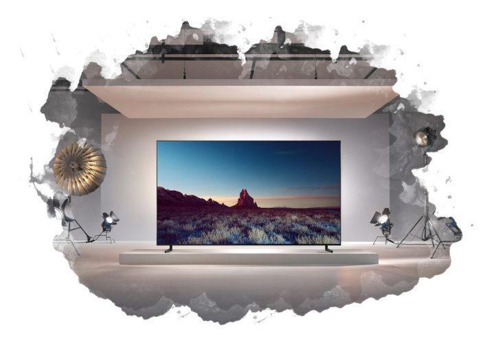 8к телевизор в комнате