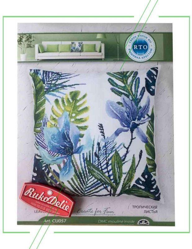 Crystal Art подушка Тропические листья_result