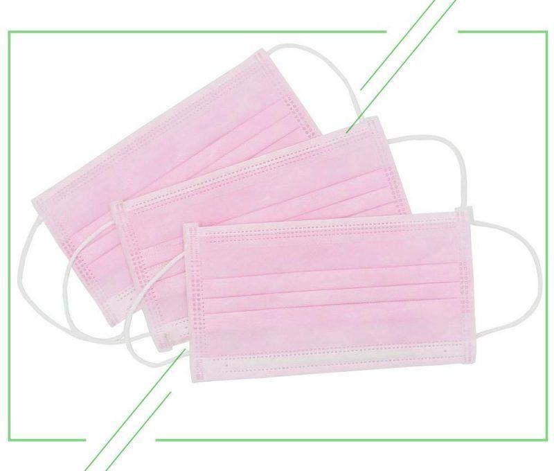 Маска трехслойная для лица на резинке (175 95) в ассортименте цветов 50 штук в упаковке_result