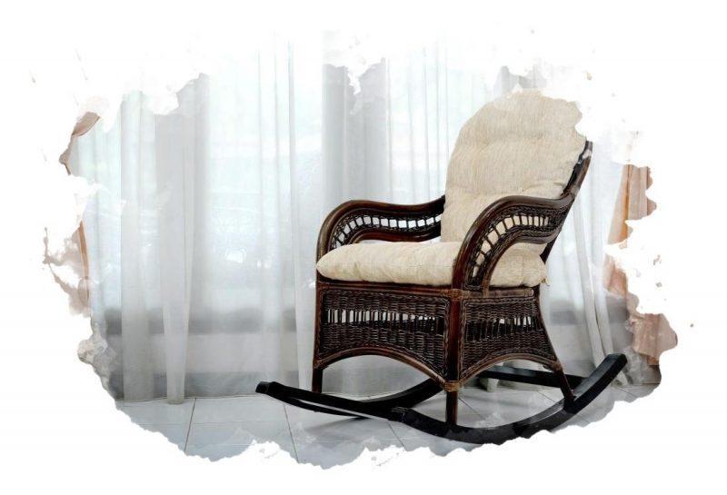 плетенное кресло качалка