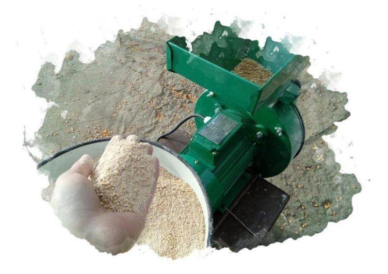 использование зернодробилки