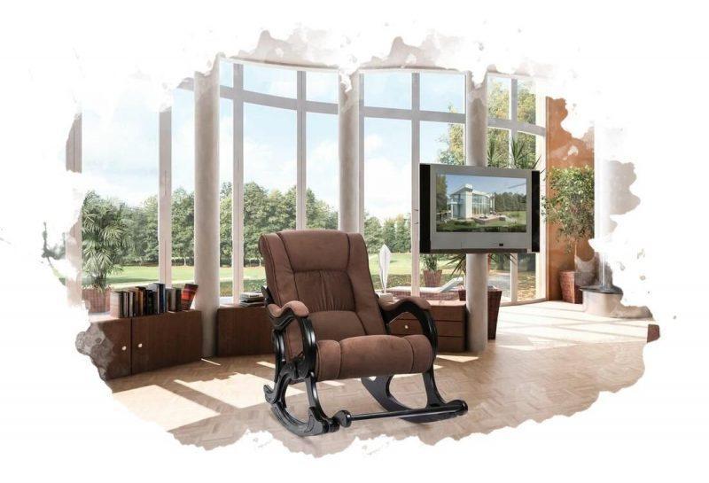 кресло-качалка в комнате