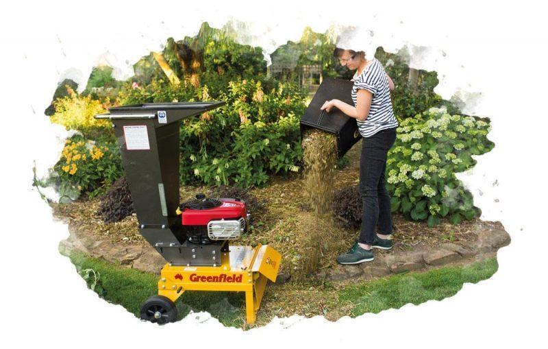 использование садового измельчителя веток