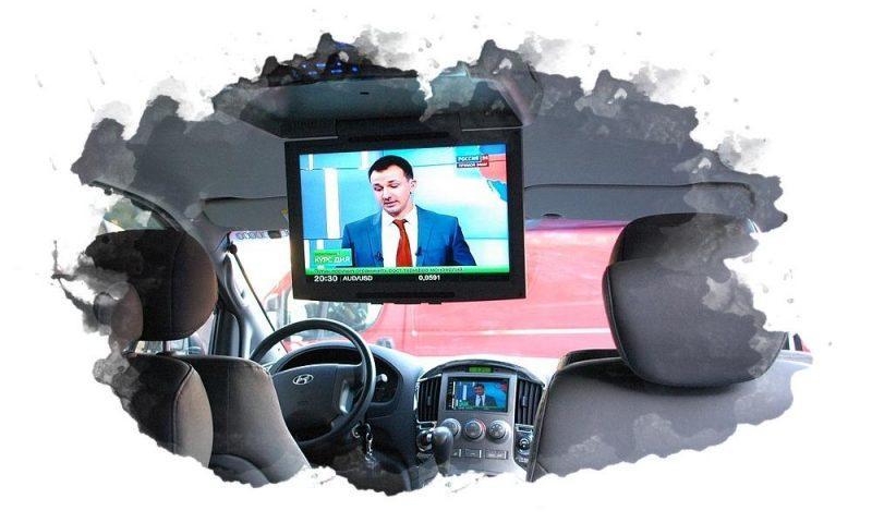 как подключить телевизор в машине
