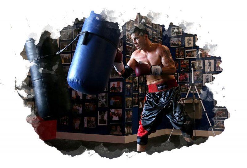 тренировка с боксерским мешком