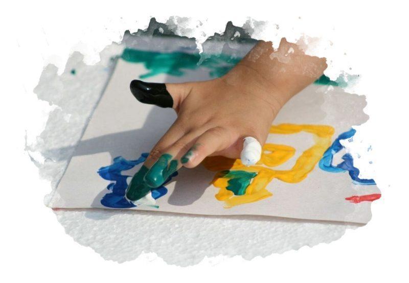 как рисовать красками